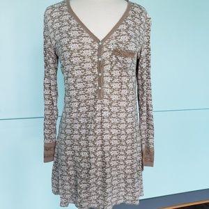 Waffle knit nightgown